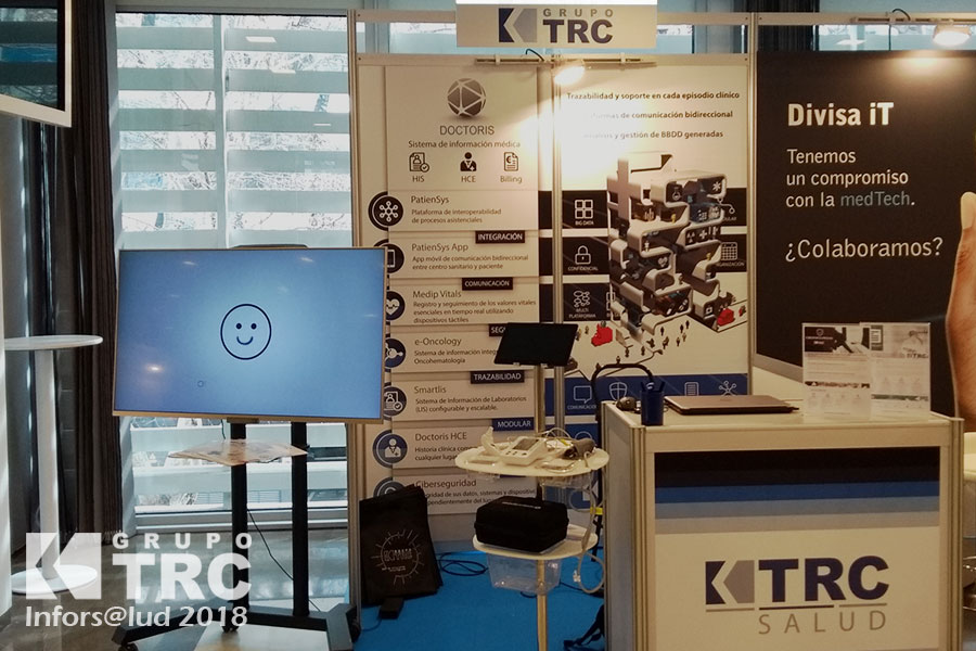 Inforsalud 2018 stand Grupo TRC